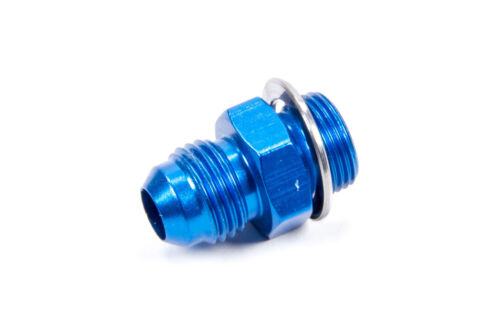 """Fragola Fitting Adapter Straight 6AN Male to 9//16-24/"""" Male Aluminum Blue 491951"""