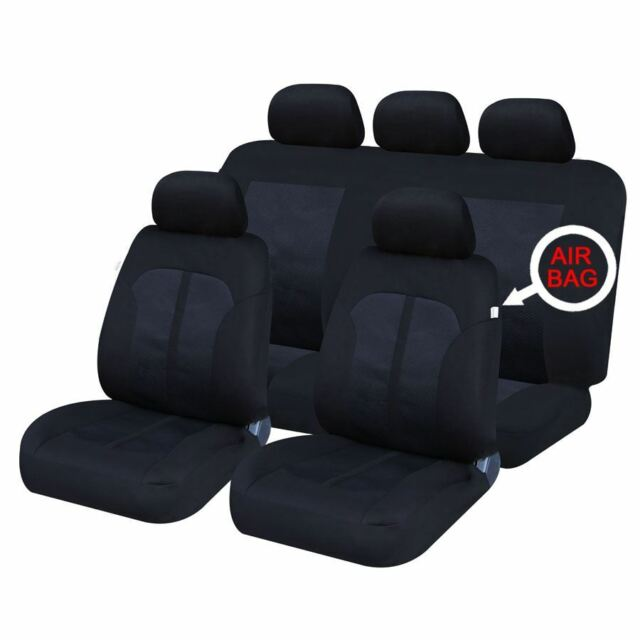 UKB4C Modern Black Front Set Car Seat Covers for MG ZS All Years