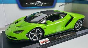 1-18-Maisto-escala-Diecast-Modelo-Coche-Lamborghini-Centenario-Verde