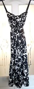 MINKIE-BLACK-amp-WHITE-SLIP-DRESS-SIZE-6-8-USED