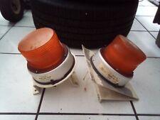 Strobe Beacon Light Federal Signal Corp 12 48 Vdc Round Amber Model 651 Plu