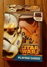 New Sealed Disney Star Wars Rebels Playing Cards Collectible Tin Animated Series
