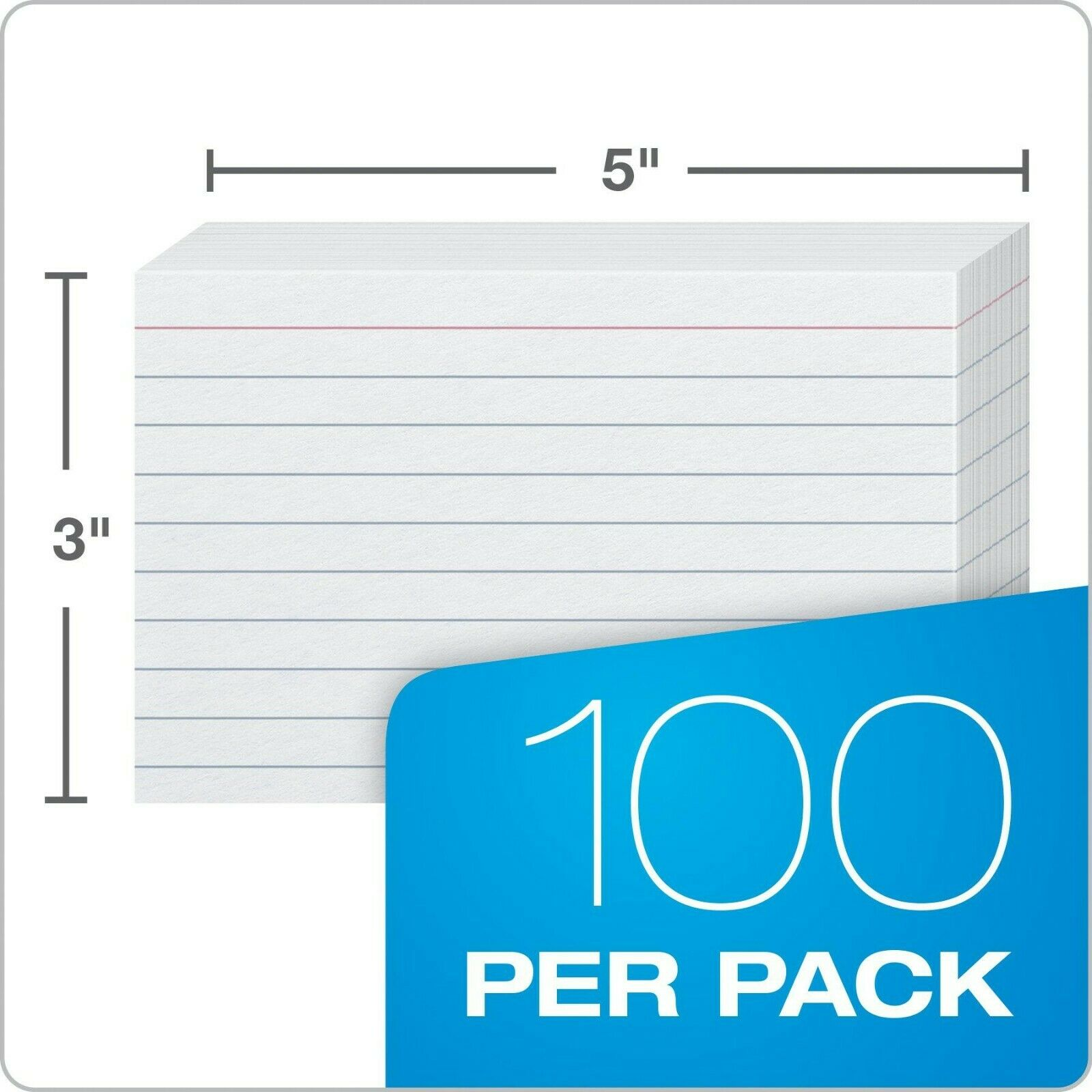 Oxford 3x5 Heavy Weight Ruled Index Card White 100 Count 63500 for sale online