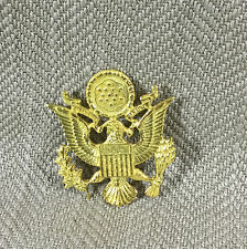 US Army Officer Cap Visor Badge American Crest Shield Seal Golden Eagle Insignia