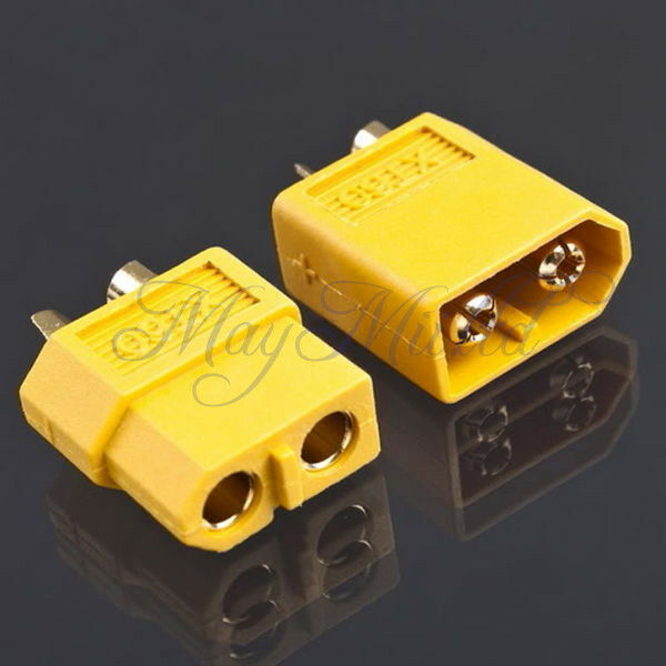 SI 1 Pair XT60 Bullet Connectors Plugs Male & Female For RC LiPo Battery Motor
