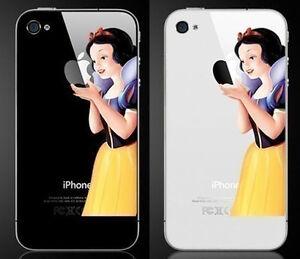 Blanche-neige-tenant-le-Apple-vinyle-sticker-autocollant-peau-pour-iPhone-4-4s