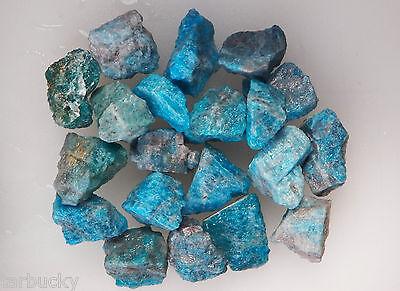 """1/2 LB BLUE APATITE 1"""" + Bulk Rough Rock Tumbling Tumbler Stones  FS"""