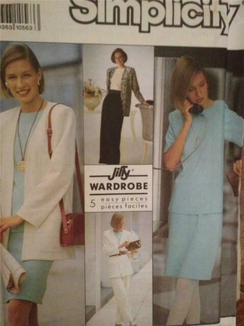 Simplicity Sewing Pattern 9916 Misses Skirt Pants Tops Jacket Size PT-XL