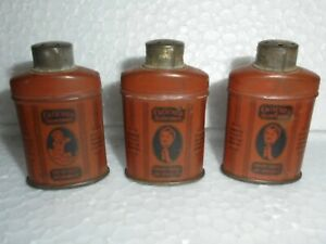 3-Pc-Vintage-Cuticura-Talcum-Powder-Ad-Litho-Penny-Small-Tin-Box-USA