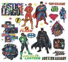 JUSTICE LEAGUE wall stickers 28 decals Superman Batman Flash superhero scrapbook