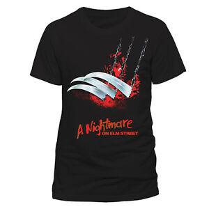 Official-Nightmare-On-Elm-Street-T-shirt-Blades-Freddy-Krueger-Wes-Craven-S-XL