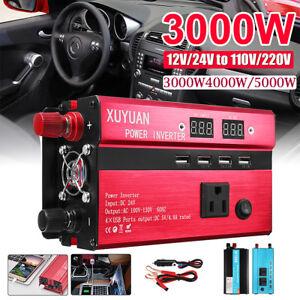 3000W-4000W-5000W-Energia-Solare-Inverter-LED-AC-Sine-Wave-Converter