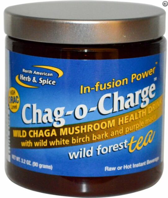 NEW NORTH AMERICAN HERB & SPICE CO CHAG-O-CHARGE WILD FOREST TEA WHOLE FOOD CARE