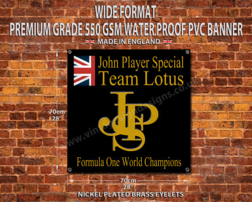 "JPS TEAM LOTUS WATER PROOF 550GSM GRADE PVC GARAGE BANNER 28/"" X 28/"""