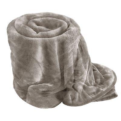 Mink Faux Fur Blanket Bed Sofa Throw