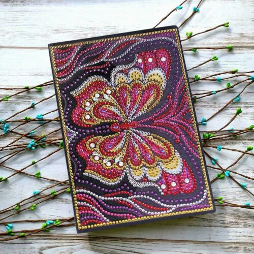 DIY Owl Special Shaped Diamond Painting 50 Pages A5 Sketchbook Journal Book Gift
