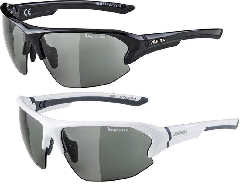Alpina Lyron HR VL Fahrradbrille photochromatische Varioflexgläser 100%UV-Schutz