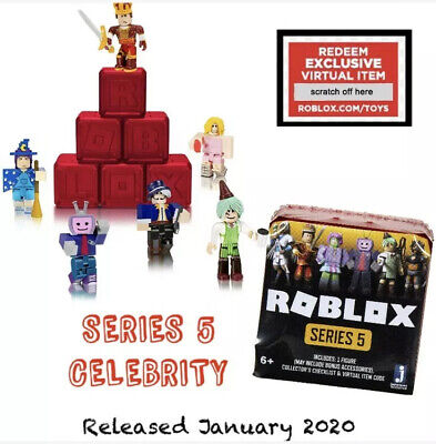 NEW 2020 Sealed ROBLOX Celebrity Series 5 Mystery Blind Figure Boxes RED BOX