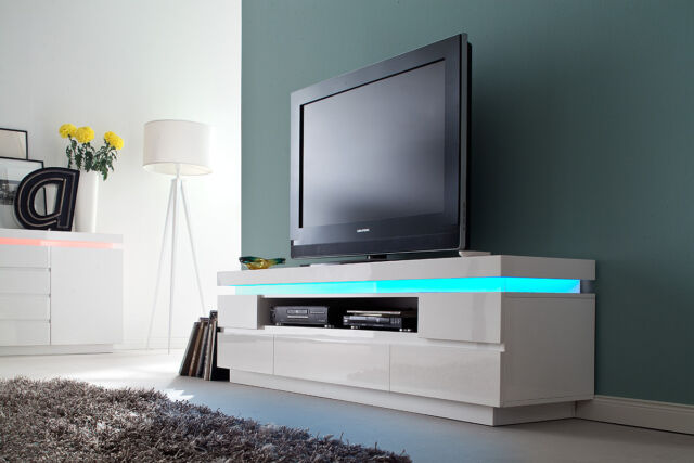 White Living Room Tv Stand With Shelves