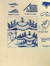 Vintage Alice Brooks Mail Order Embroidery Transfer Pattern #7102-Elegant Ladies