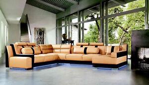 Xxl U Form Leder Wohnlandschaft Couch Polster Sitz Ecksofa Sofa