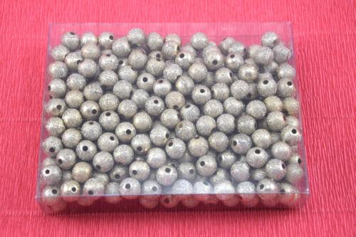 280 Perlen 9mm goldfarbig Perlen Hochzeit Perlensterne Drahtsterne