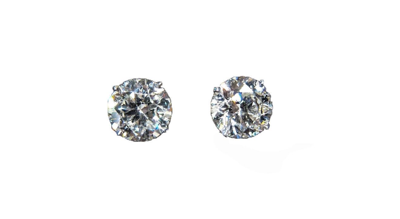 DIAMOND STUD EARRING 4.05 CT TOTAL WEIGHT EARRING