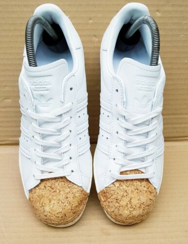 Rare Stunning Cork White Adidas Twice Toe Trainers Superstar Size Worn 5 Uk 80's xTUAvxwq