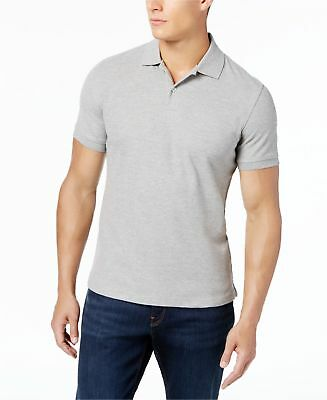 NEW $95 CLUB ROOM Men/'s FIT GRAY SHORT-SLEEVE BUTTON TOP RUGBY POLO SHIRT SIZE L
