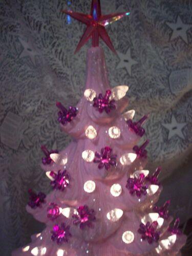 PLASTIC LIGHTS FOR CERAMIC CHRISTMAS TREES MEDIUM TWIST 90 PIECES PURPLE