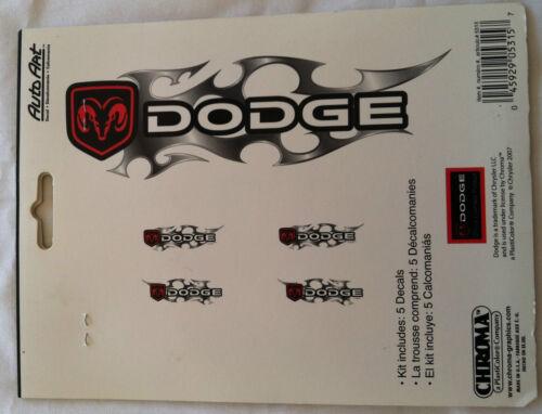 Dodge 5pc  Flames Decal Stickers Emblem Logo Sticker Auto Art