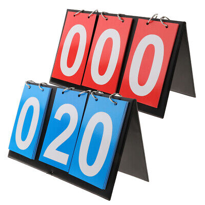 Flip Portable Tableau de Bord Sport Score Compteur Tennis de Table Basketball 4 Chiffres-Rouge + Bleu Sport Scoreboard