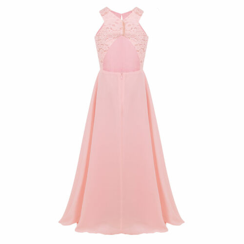 Flower Girl Dress Princess Pageant Special Occasion Party Wedding Lace Maxi Gown