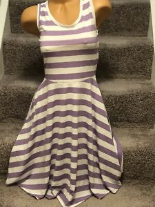 LulaRoe-Nicki-Tank-Dress-Slinky-Purple-White-Stripe