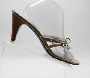 SAM & LIBBY Gracious Beige Sandals Slip On Slides Shoes Size 10