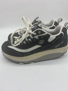 Skechers-Shape-Ups-Women-039-s-Walking-Toning-Shoes-Black-White-SN-11809-Size-9