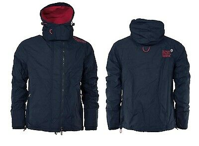 New SUPERDRY Fashion Men's Pop Zip Hooded Arctic Windbreaker Jacket Coat
