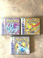Game Boy Color Custom Game Cases Case Pokemon Crystal, Gold, &/or Silver