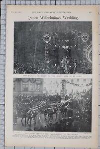1901-PRINT-QUEEN-WILHELMINAS-WEDDINGS-PROCESSION-GROOTE-KERK-ST-JAMES
