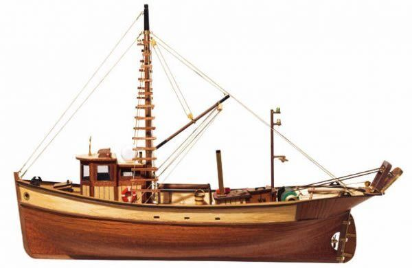 Occre Palamos Fishing Boat 1 45 Scale 12000 - Ideal Beginners Model Boat Kit
