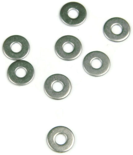 Qty 100 Stainless Steel NAS Flat Washer #4