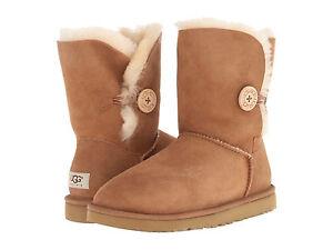 9cfc3400289 NEW WOMEN UGG AUSTRALIA BOOT BAILEY BUTTON CHESTNUT 5803 ORIGINAL | eBay
