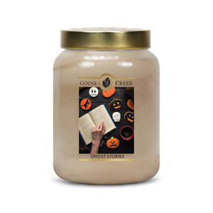 ☆☆GHOST STORIES☆☆LARGE GOOSE CREEK CANDLE JAR 24 OZ.☆☆ FREE EXPEDITED SHIPPING