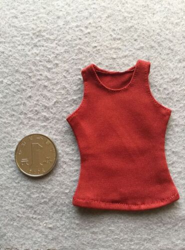 """1//6 Scale RED Women/'s vest For 12/"""" FeMale HT Phicen Body Doll TOY"""