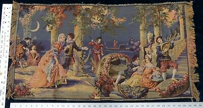 Vintage Tapestry Wall Hanging Renaissance Courtyard Scene Made In Belgium Ebay