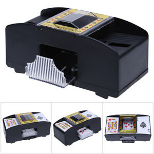 Kartenmischer-2-Decks-Poker-elektrische-Kartenmischmaschine-Mischmaschine-EU