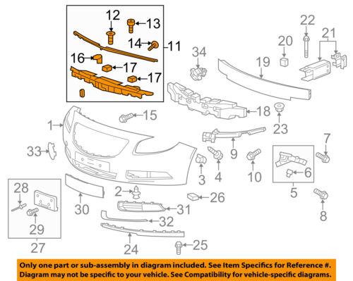 Buick GM OEM 11-17 Regal Front Bumper Grille-Center Support 22946539