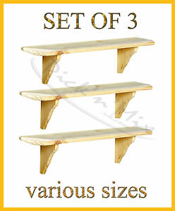Set-Of-3-Core-Products-Natural-Wood-Wooden-Shelves-Wall-mounted-Shelf-Kit-Unit