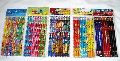 Lot 180 pcs Disney /& Cartoon Character Licensed Pencil Wholesale School Supply
