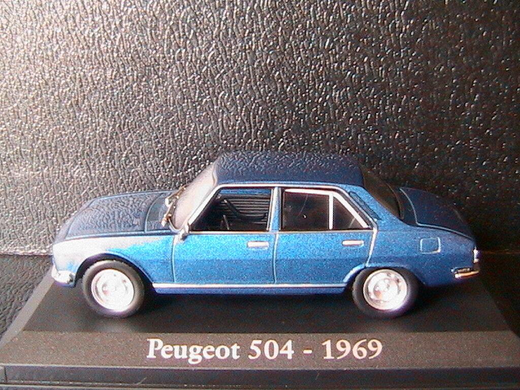 PEUGEOT 504 1969 blue blueE blueE blueE METALLIC RBA COLLECTABLES 1 43 blue SALOON BLISTER aa858d